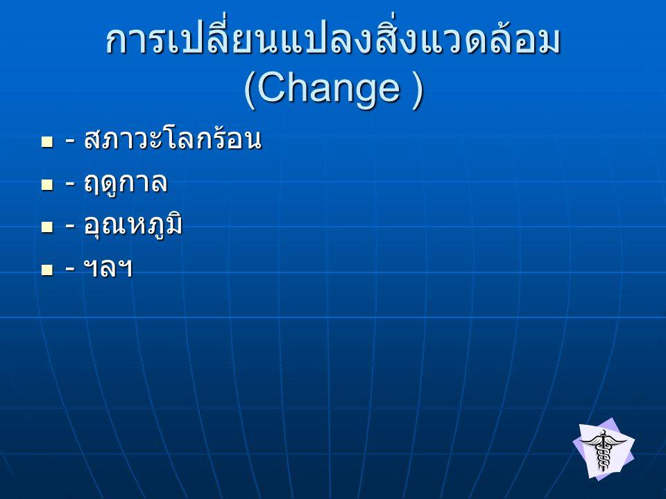 การเปลี่ยนแปลงสิ่งแวดล้อม (Change )