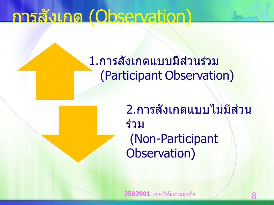 การสังเกต (Observation)