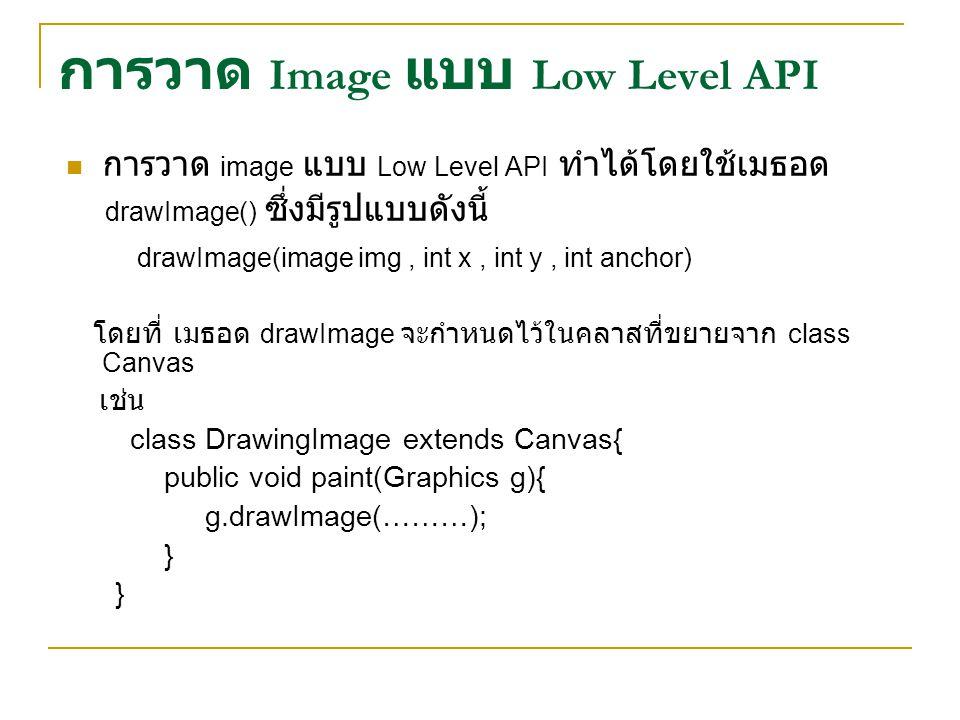 การวาด Image แบบ Low Level API