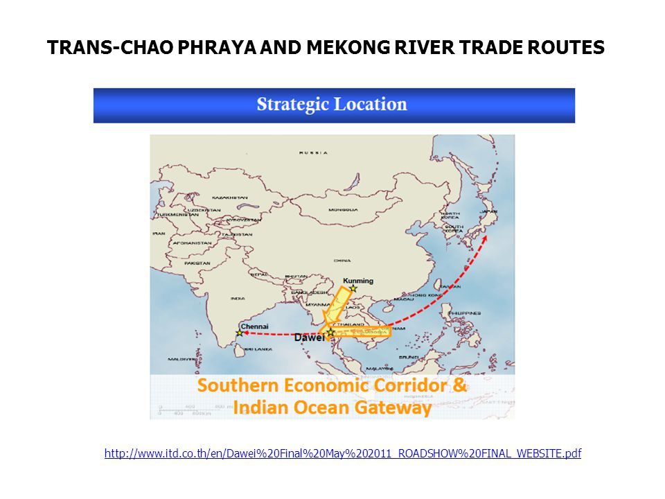 TRANS-CHAO PHRAYA AND MEKONG RIVER TRADE ROUTES