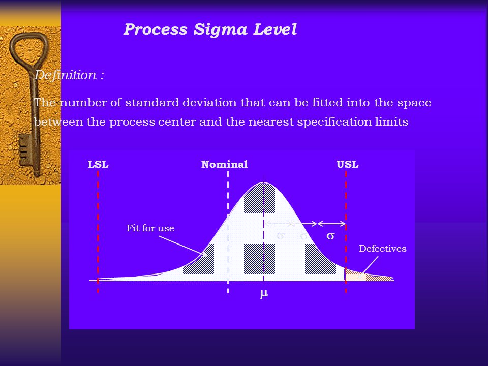 Process Sigma Level Definition : s m