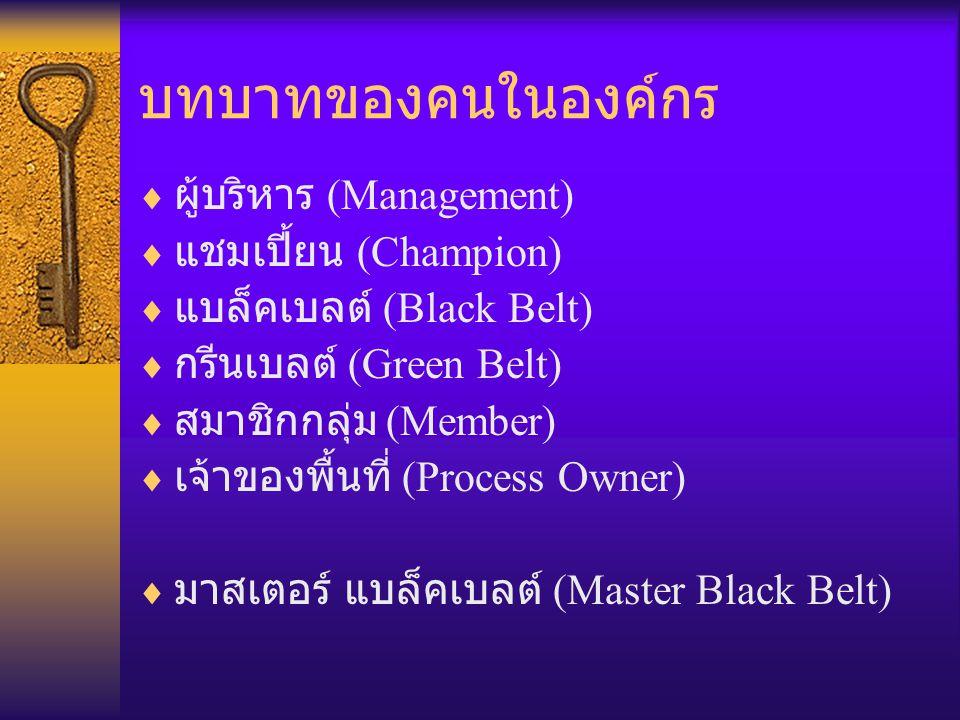 บทบาทของคนในองค์กร ผู้บริหาร (Management) แชมเปี้ยน (Champion)