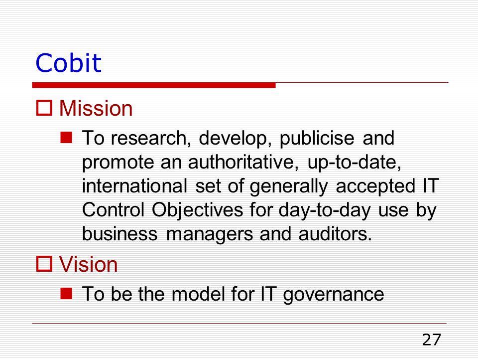 Cobit Mission.