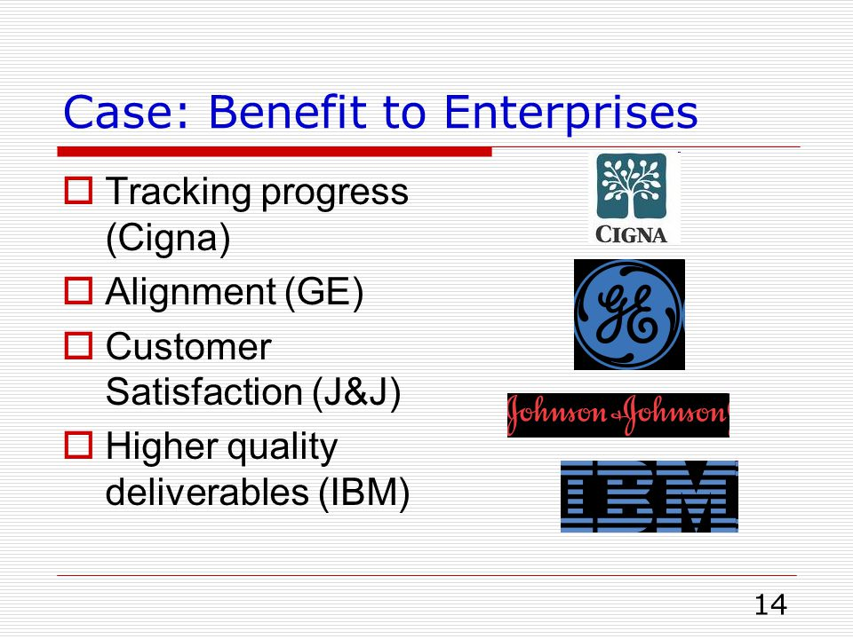 Case: Benefit to Enterprises
