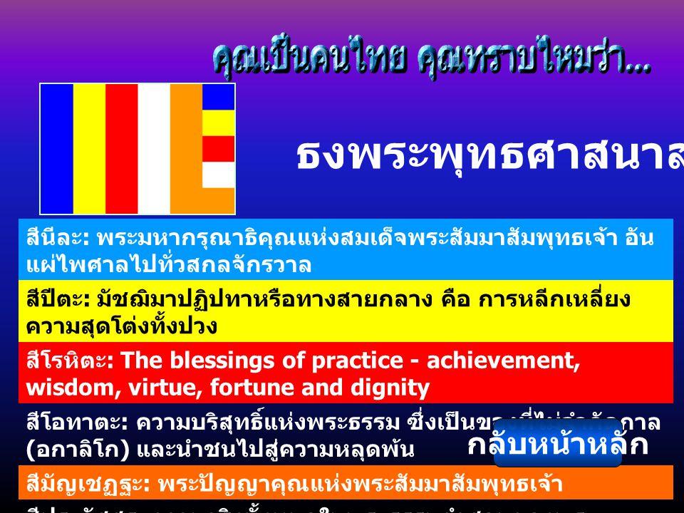 ธงพระพุทธศาสนาสากล กลับหน้าหลัก