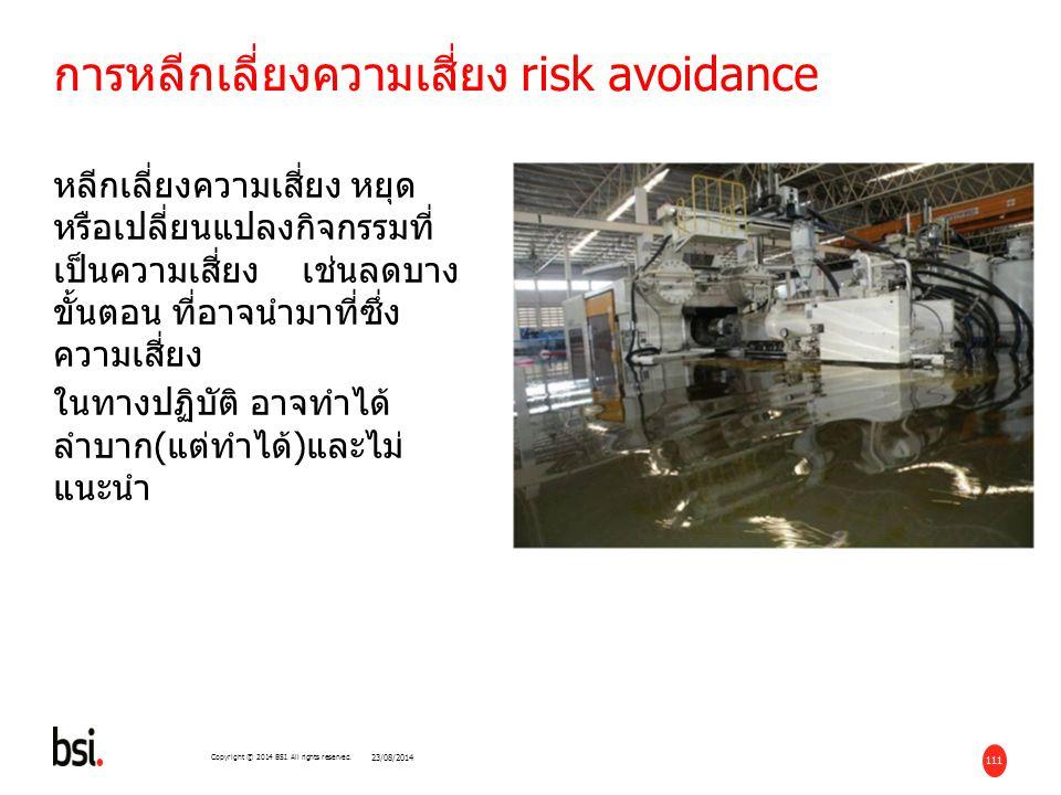 การหลีกเลี่ยงความเสี่ยง risk avoidance