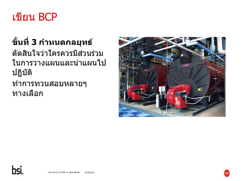 เขียน BCP ขั้นที่ 3 กำหนดกลยุทธ์