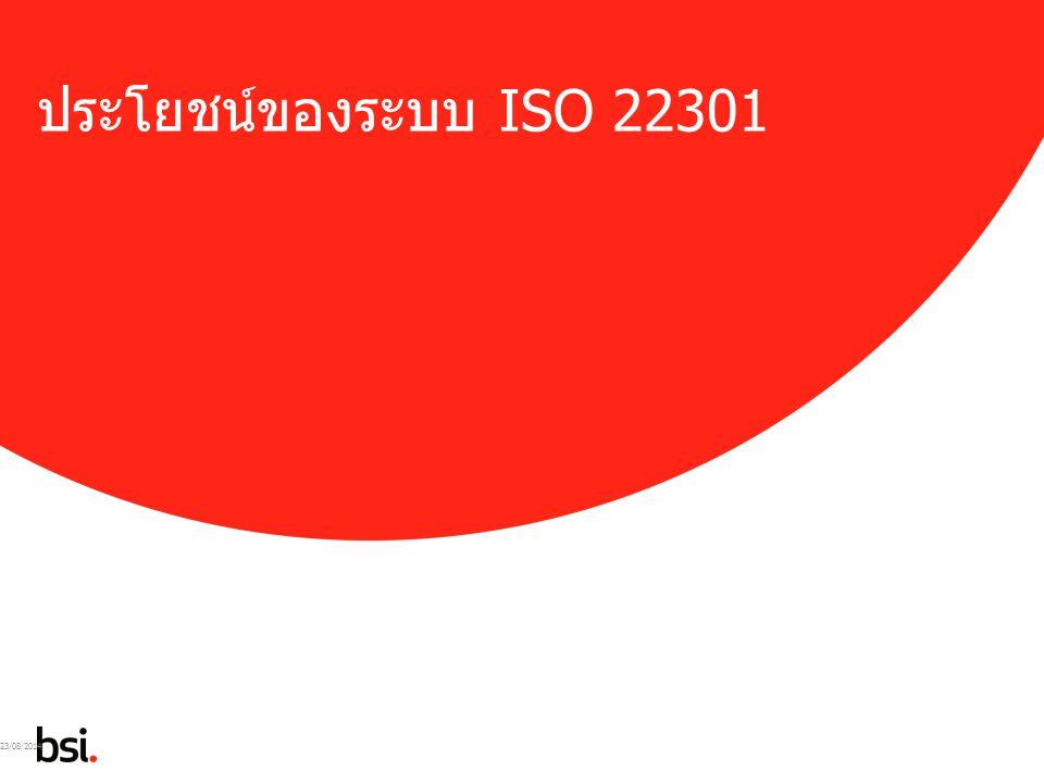 05/04/2017 ประโยชน์ของระบบ ISO 22301 05/04/2017