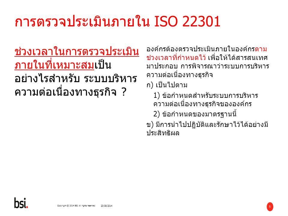 การตรวจประเมินภายใน ISO 22301