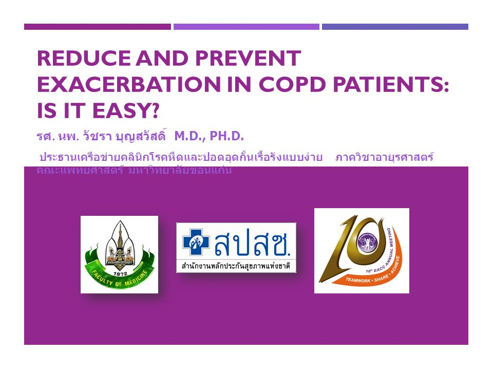Reduce and Prevent exacerbation in COPD patients: Is it easy