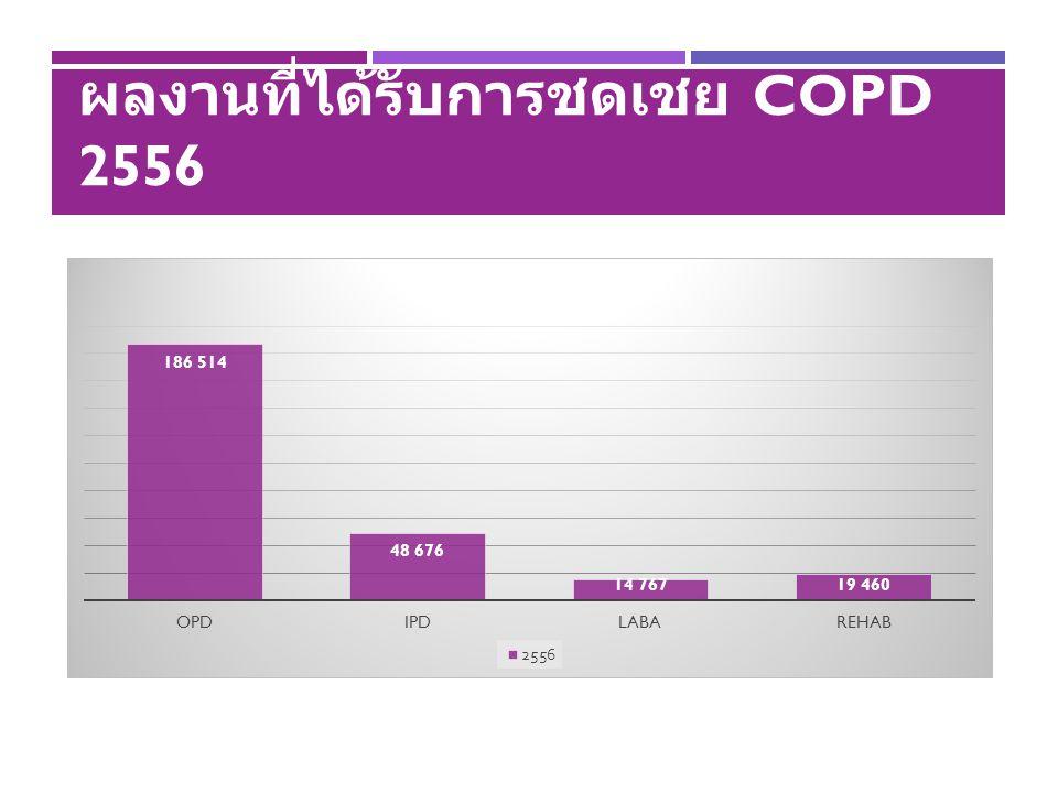ผลงานที่ได้รับการชดเชย COPD 2556