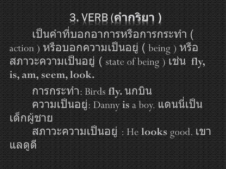 3. Verb (คำกริยา )