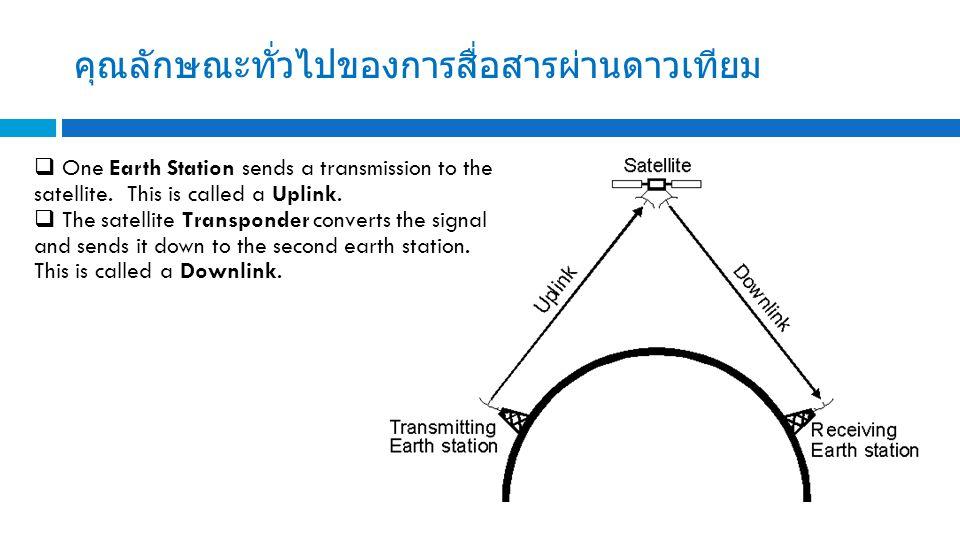 คุณลักษณะทั่วไปของการสื่อสารผ่านดาวเทียม