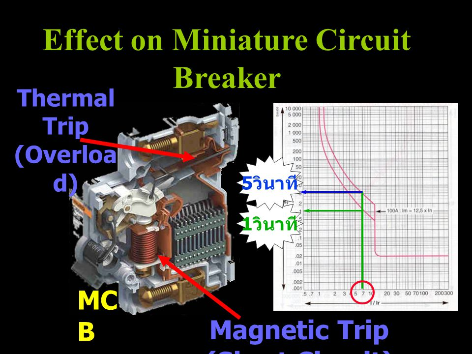 Effect on Miniature Circuit Breaker Magnetic Trip (Short Circuit)