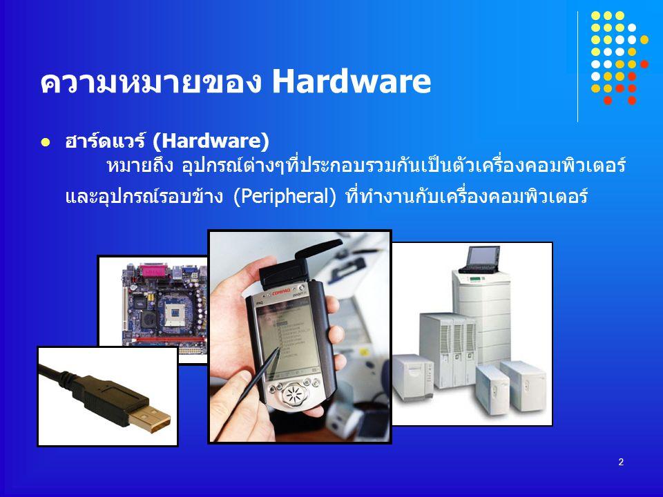 ความหมายของ Hardware