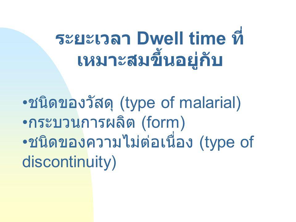 ระยะเวลา Dwell time ที่เหมาะสมขึ้นอยู่กับ