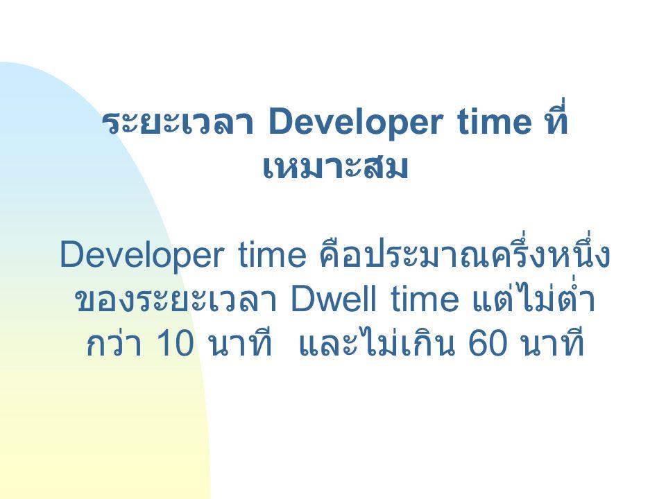 ระยะเวลา Developer time ที่เหมาะสม