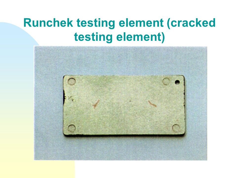 Runchek testing element (cracked testing element)