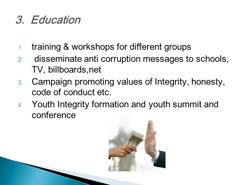3. Education training & workshops for different groups
