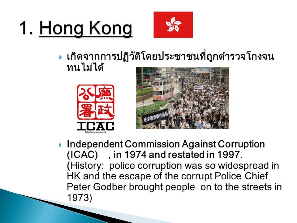 1. Hong Kong เกิดจากการปฏิวัติโดยประชาชนที่ถูกตำรวจโกงจน ทนไม่ได้