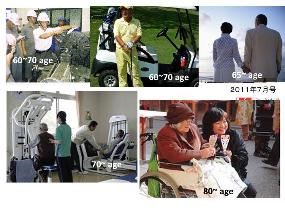 60~70 age 65~ age 60~70 age 70~ age 80~ age