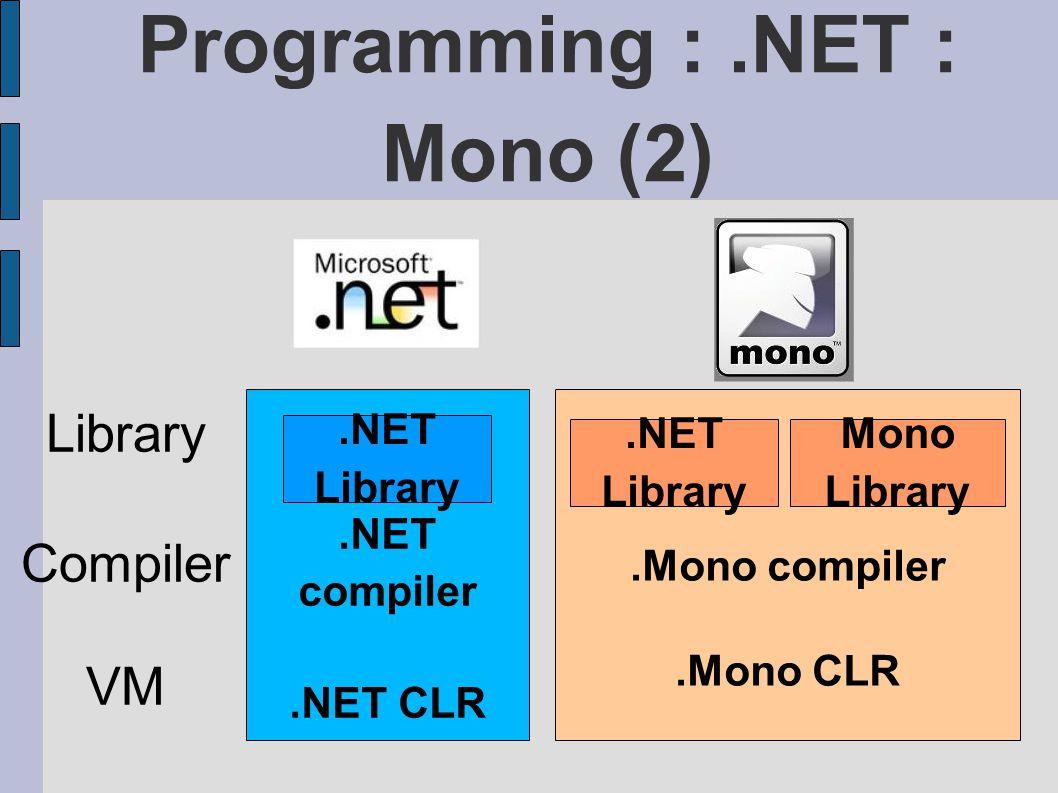 Programming : .NET : Mono (2)
