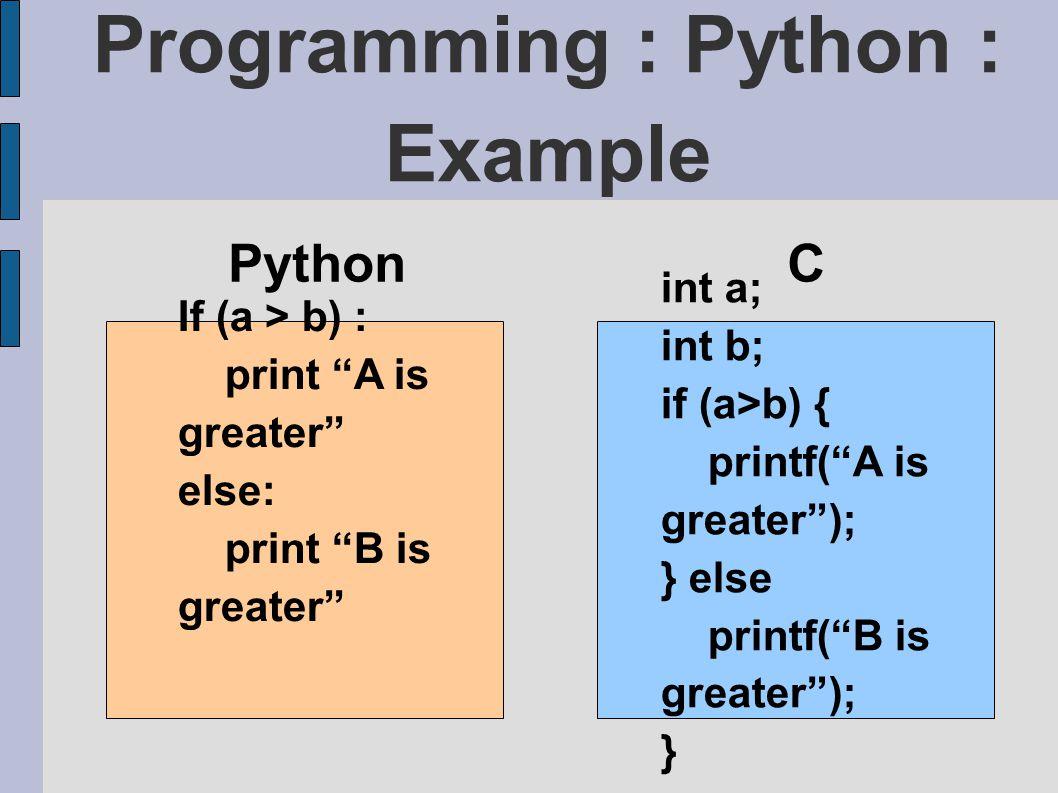 Programming : Python : Example