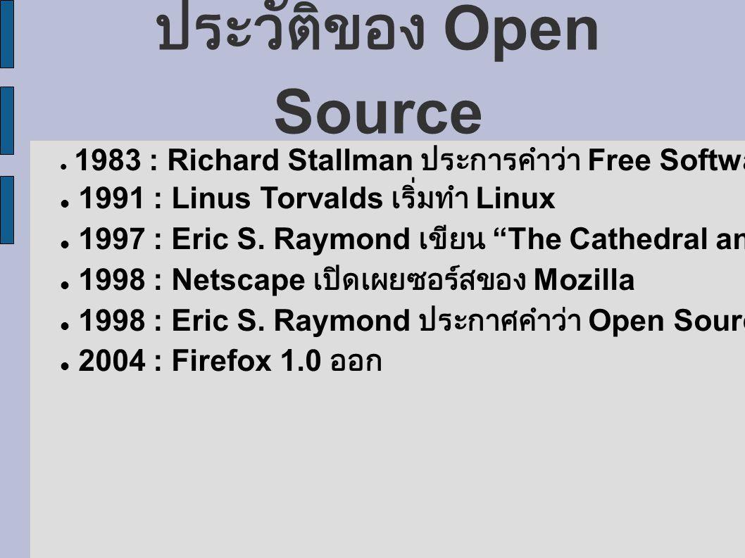 ประวัติของ Open Source