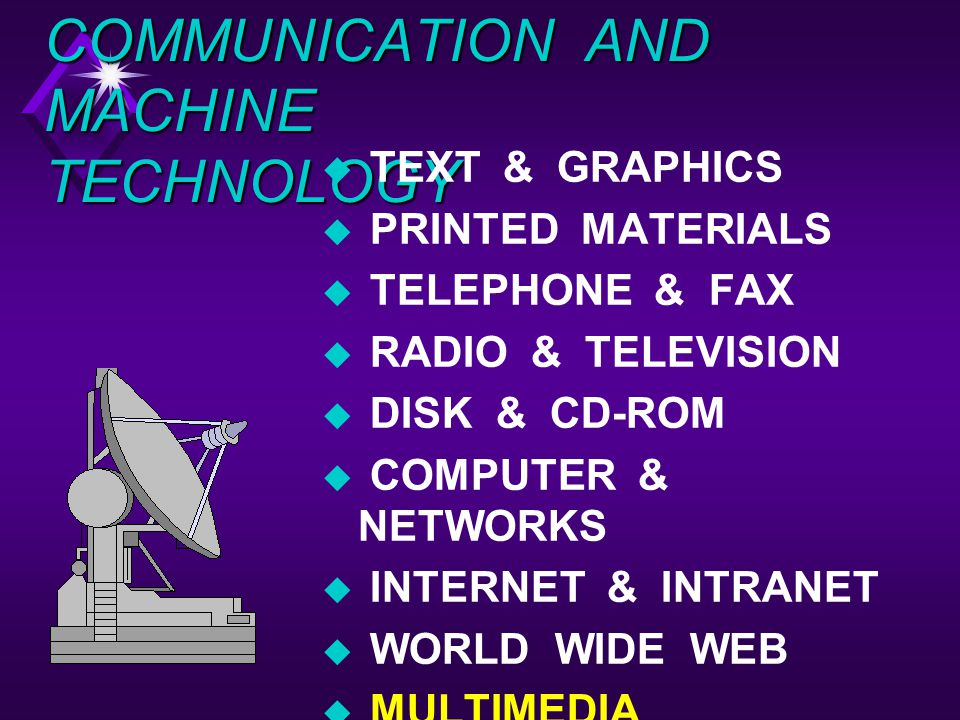 COMMUNICATION AND MACHINE TECHNOLOGY