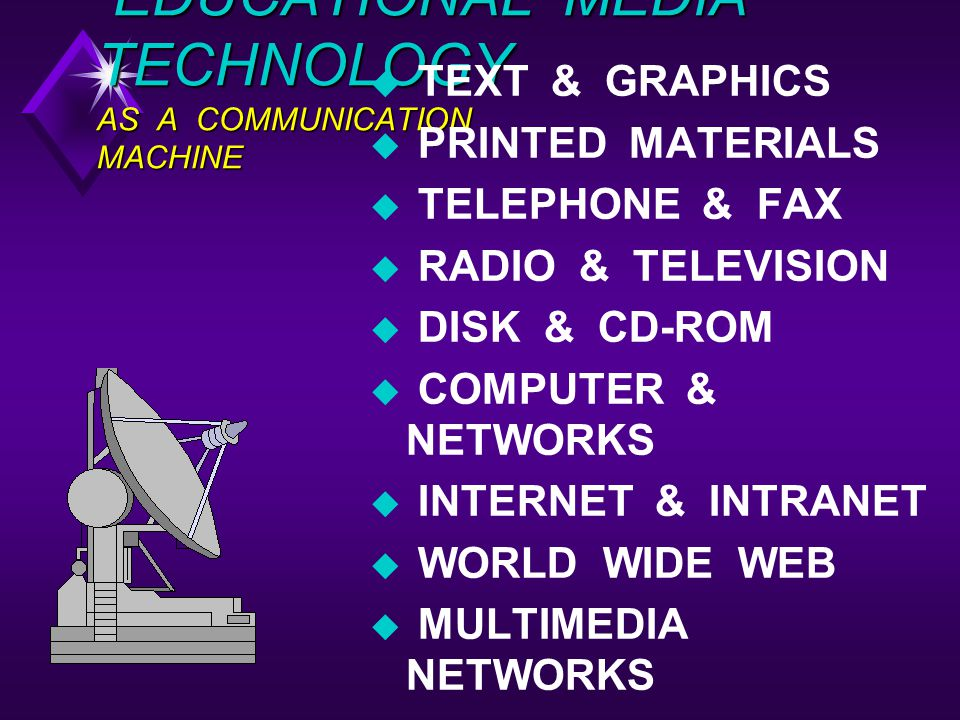EDUCATIONAL MEDIA TECHNOLOGY AS A COMMUNICATION MACHINE