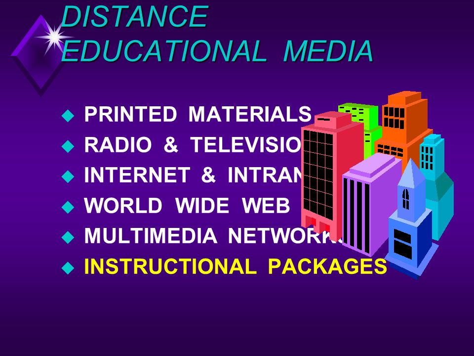 DISTANCE EDUCATIONAL MEDIA