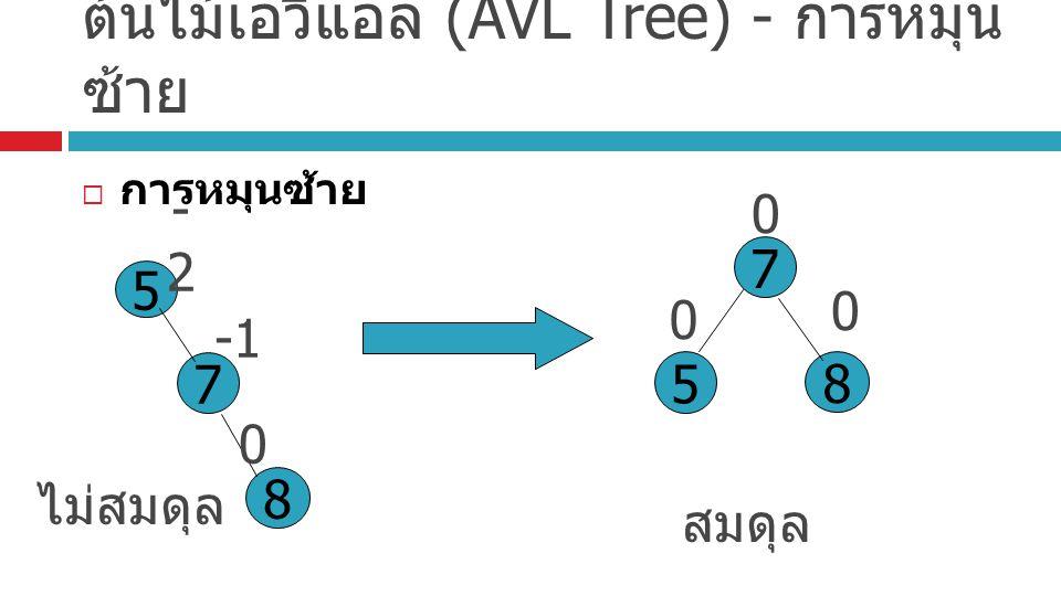 ต้นไม้เอวีแอล (AVL Tree) - การหมุนซ้าย