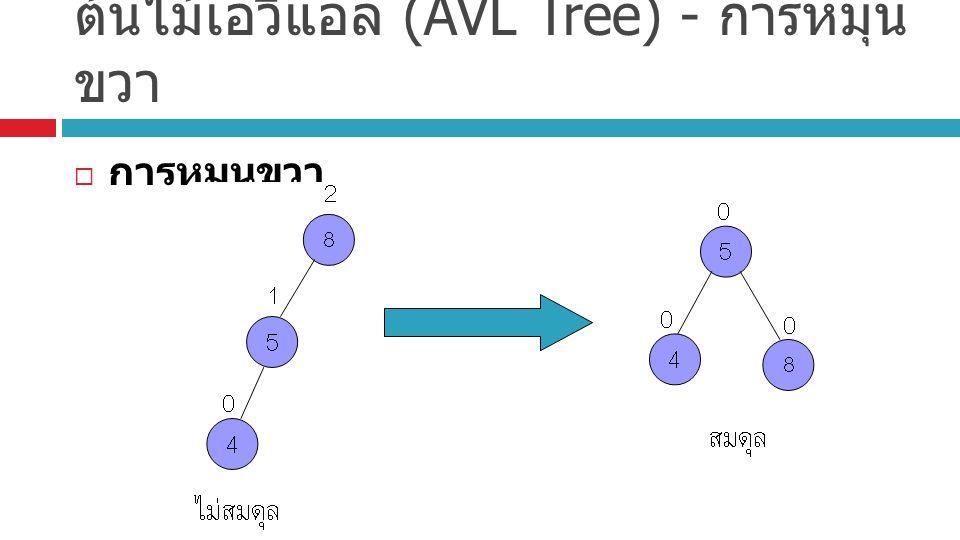 ต้นไม้เอวีแอล (AVL Tree) - การหมุนขวา
