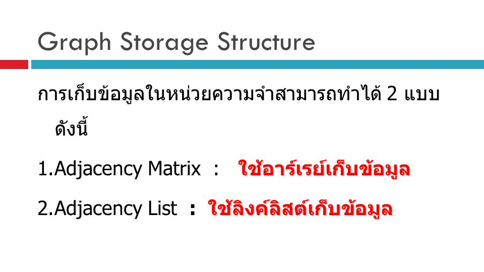 Graph Storage Structure