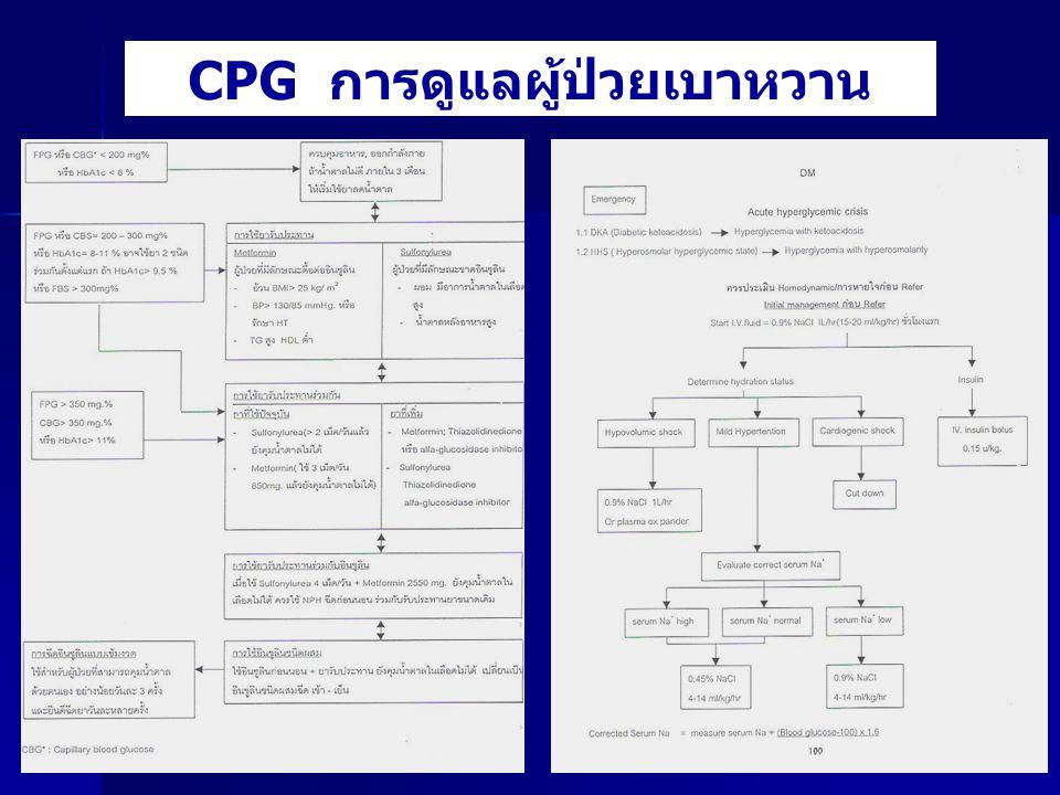 CPG การดูแลผู้ป่วยเบาหวาน