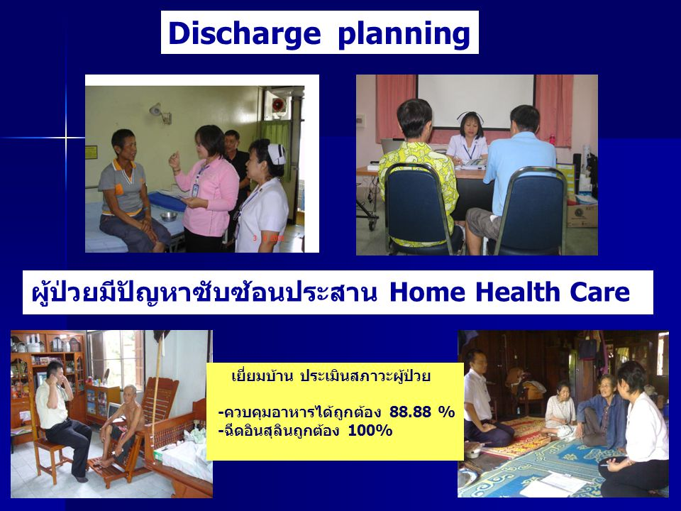 Discharge planning ผู้ป่วยมีปัญหาซับซ้อนประสาน Home Health Care