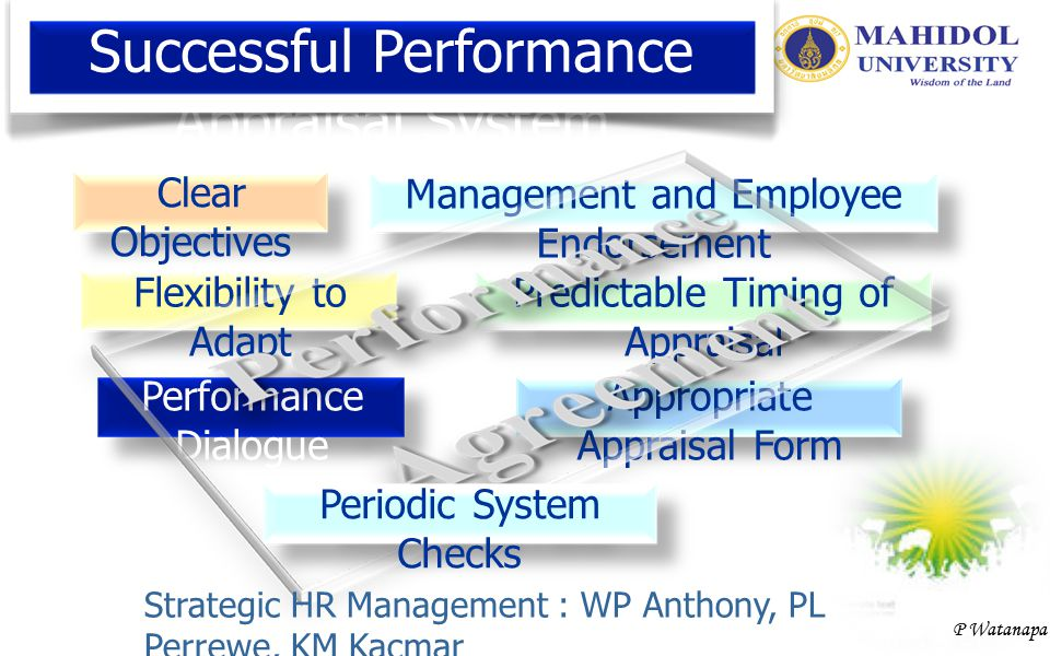 Successful Performance Appraisal System