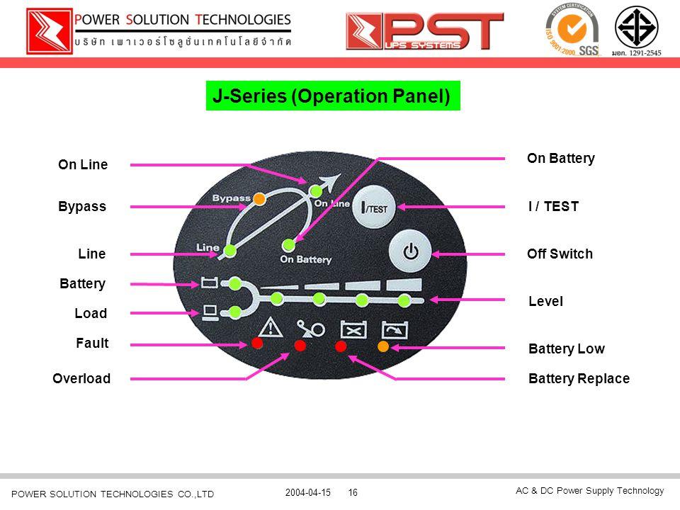 J-Series (Operation Panel)