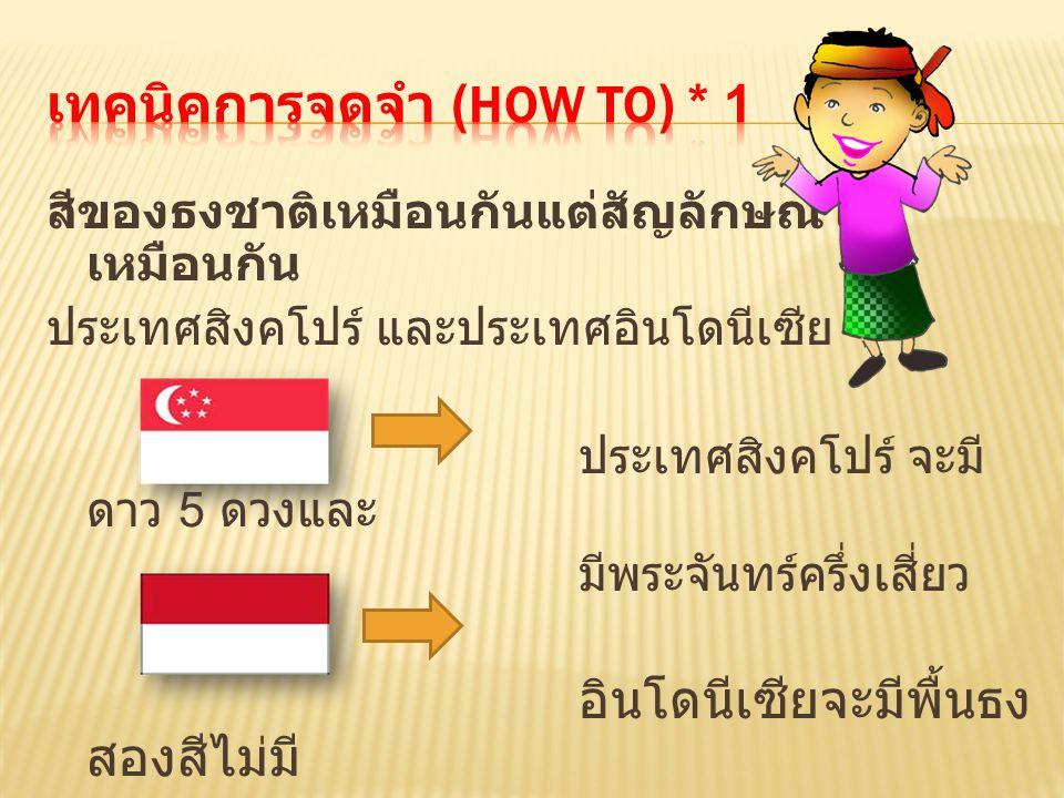 เทคนิคการจดจำ (How to) * 1