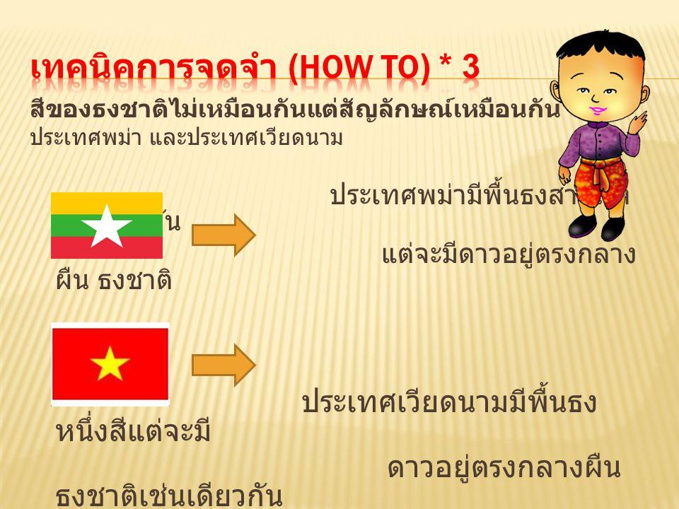 เทคนิคการจดจำ (How to) * 3