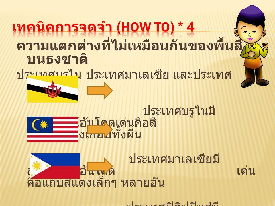 เทคนิคการจดจำ (How to) * 4