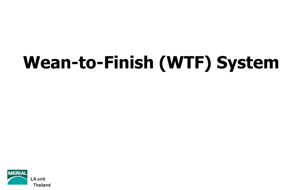 Wean-to-Finish (WTF) System