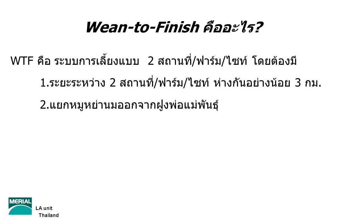 Wean-to-Finish คืออะไร