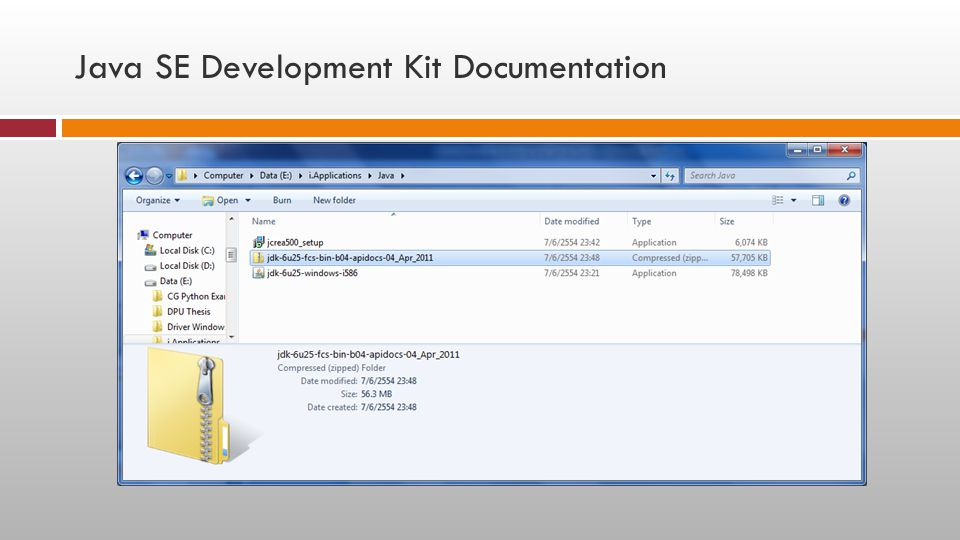 Java SE Development Kit Documentation