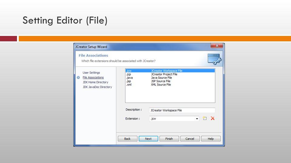 Setting Editor (File)