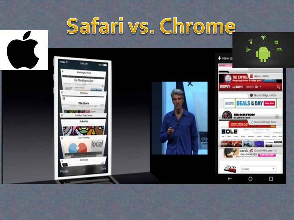 Safari vs. Chrome
