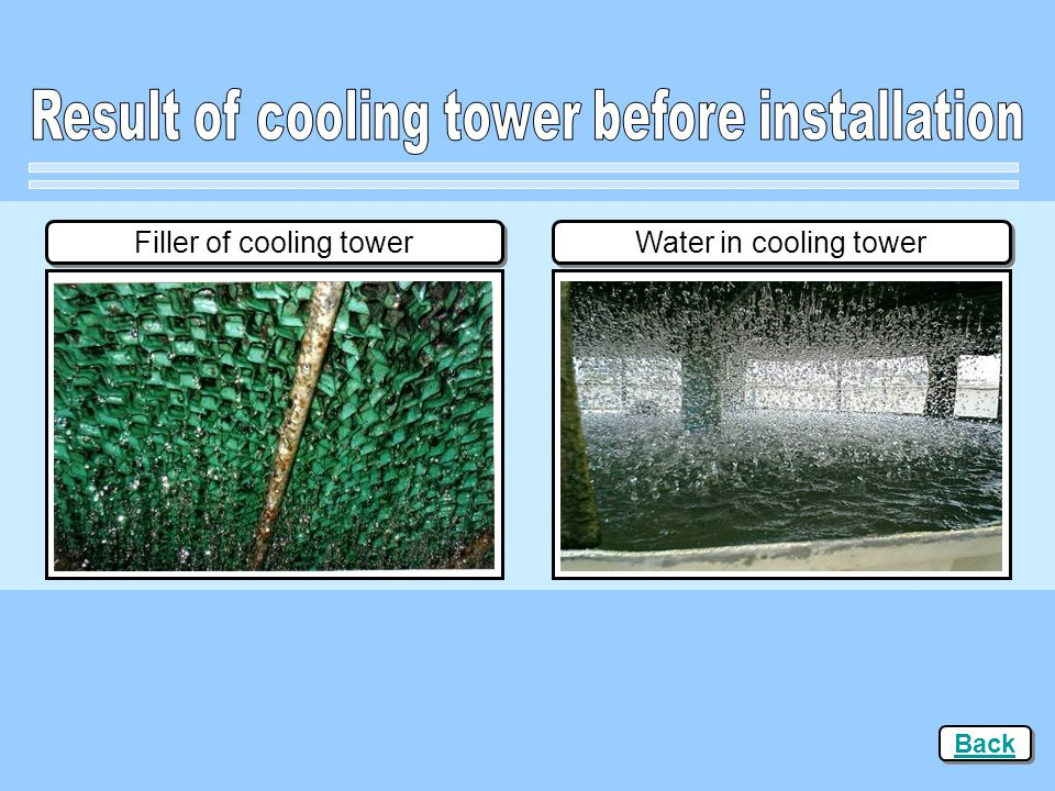 Result of cooling tower before installation