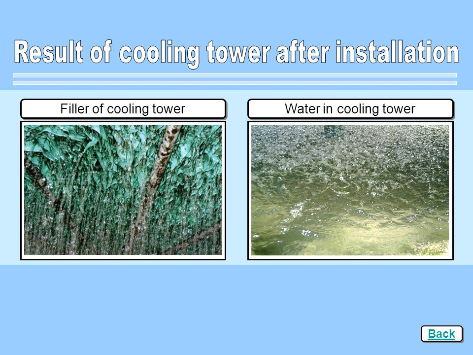 Result of cooling tower after installation