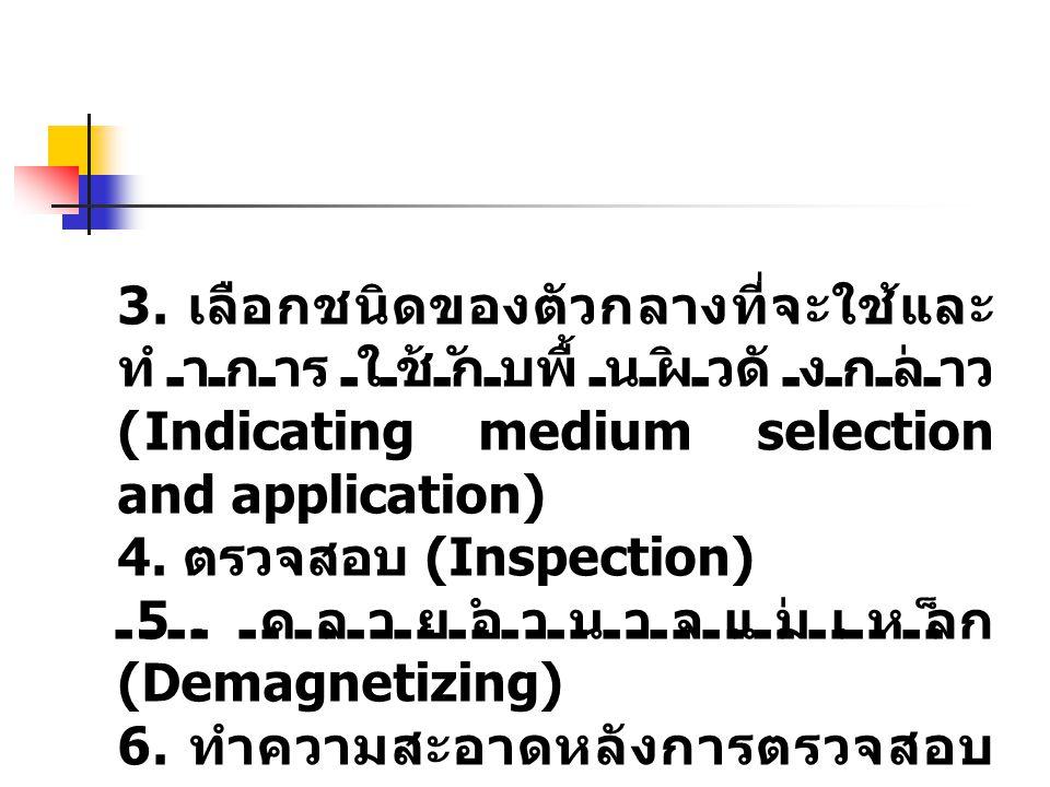 3. เลือกชนิดของตัวกลางที่จะใช้และทำการใช้กับพื้นผิวดังกล่าว (Indicating medium selection and application)