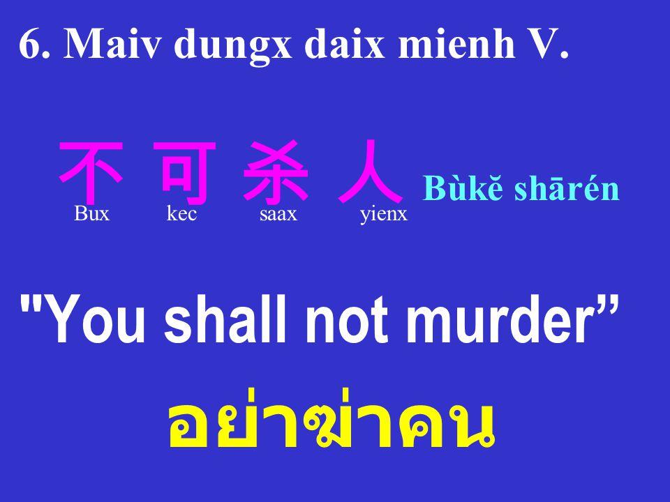 อย่าฆ่าคน You shall not murder 6. Maiv dungx daix mienh V.